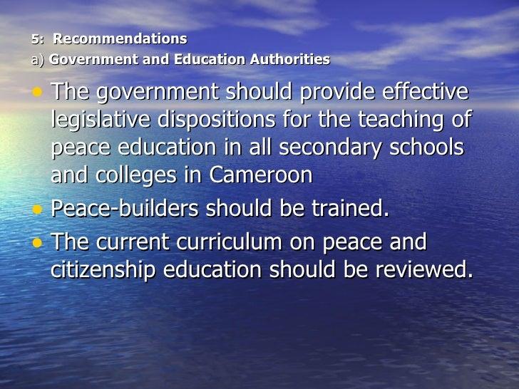 Peace education in schools