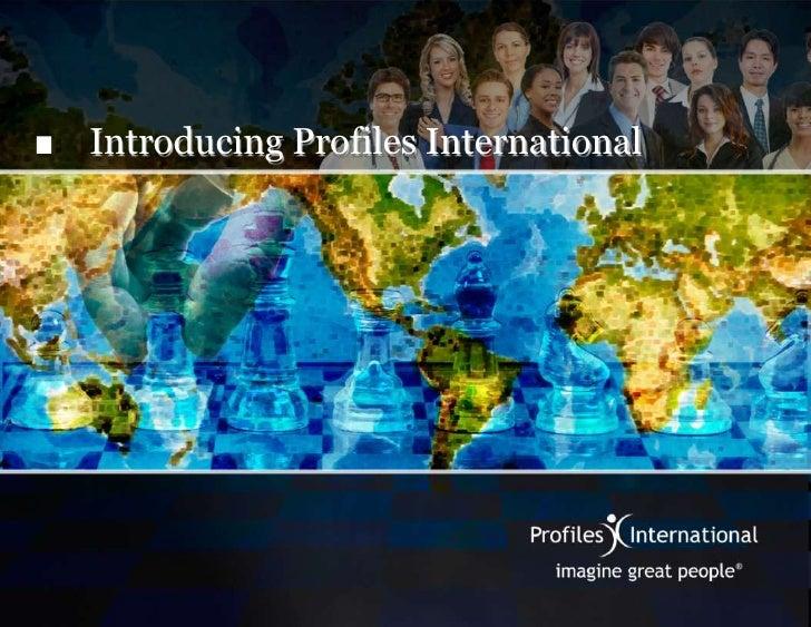 Introducing Profiles International<br />