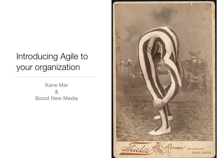 Introducing Agile toyour organization        Kane Mar            &     Boost New Media