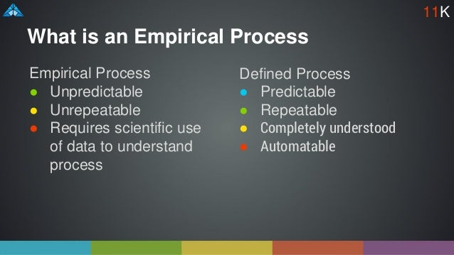 What is an Empirical Process Empirical Process ● Unpredictable ● Unrepeatable ● Requires scientific use of data to underst...