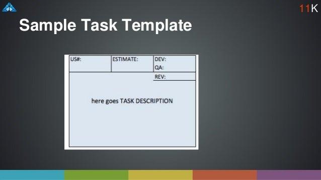 Sample Task Template 11K