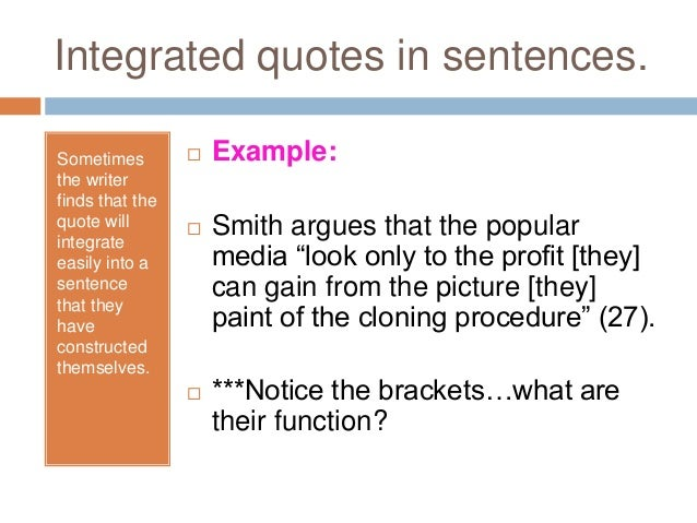 integrate quotes in an essay