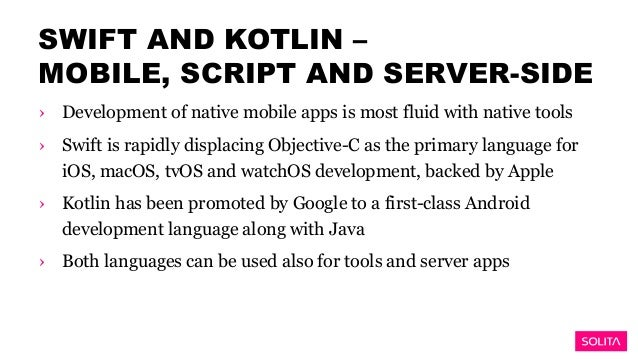 Introducing Swift and Kotlin, Solita - Mobile for Developers