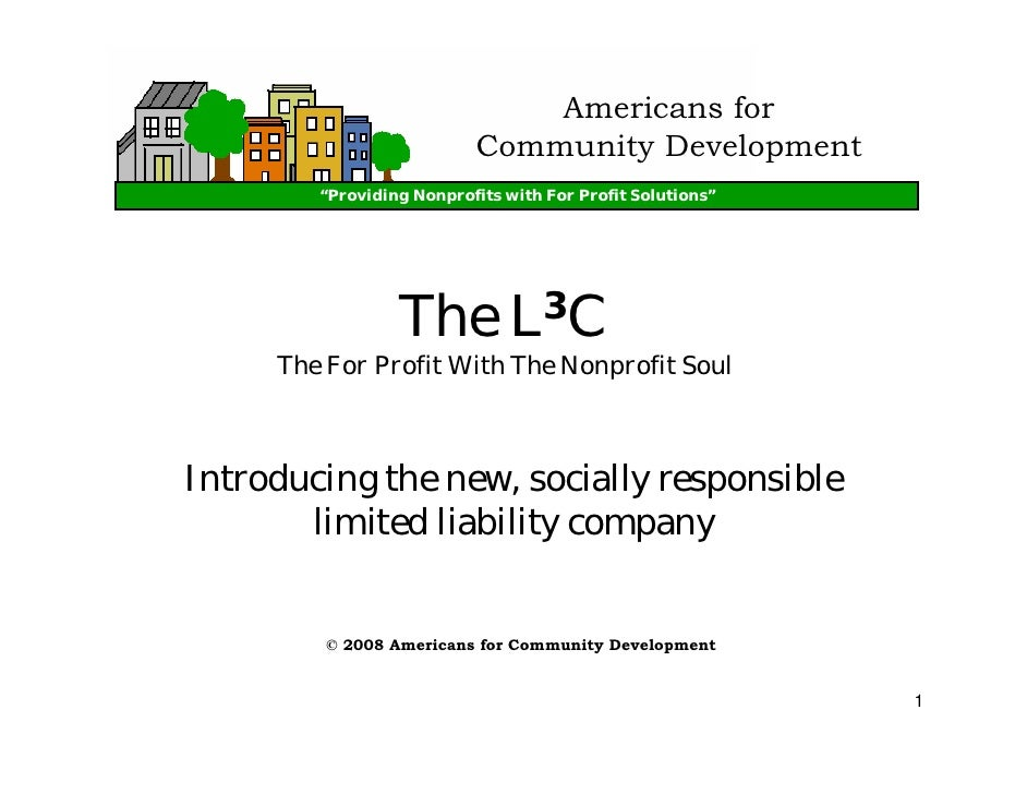 "Americans for                           Community Development         ""Providing Nonprofits with For Profit Solutions""    ..."