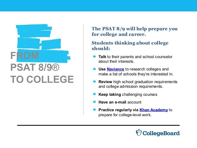 Introducing the New PSAT 8/9