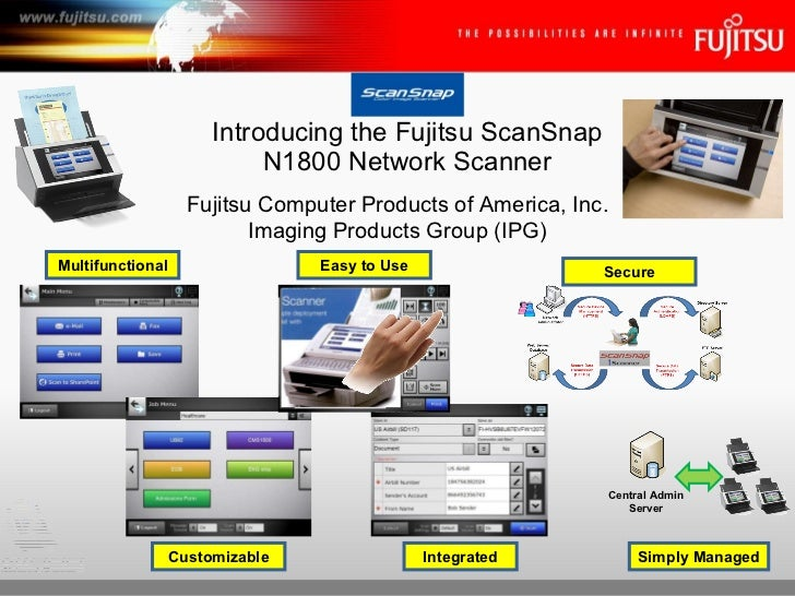 Introducing the Fujitsu ScanSnap N1800 Network Scanner Fujitsu Computer Products of America, Inc. Imaging Products Group (...
