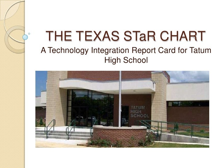 THE TEXAS STaR CHART<br />A Technology Integration Report Card for Tatum High School<br />