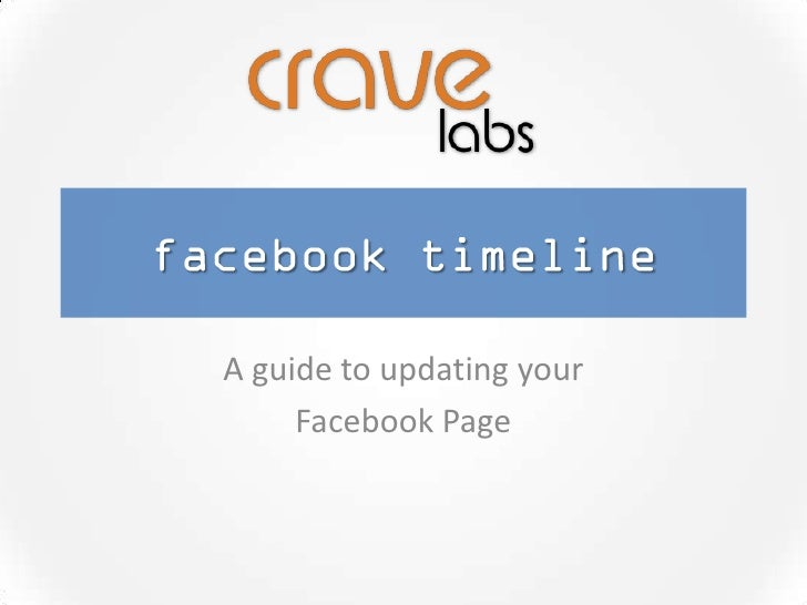 A guide to updating your     Facebook Page