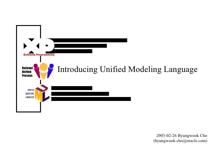 Introducing Unified Modeling Language 2003-02-26 Byungwook Cho (byungwook.cho@oracle.com)