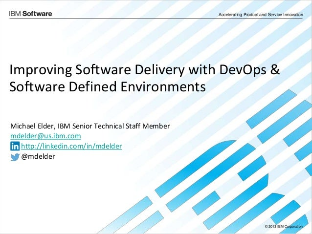 Improving Software Delivery with DevOps & Software Defined Environments | The New IBM UrbanCode Deploy with Patterns