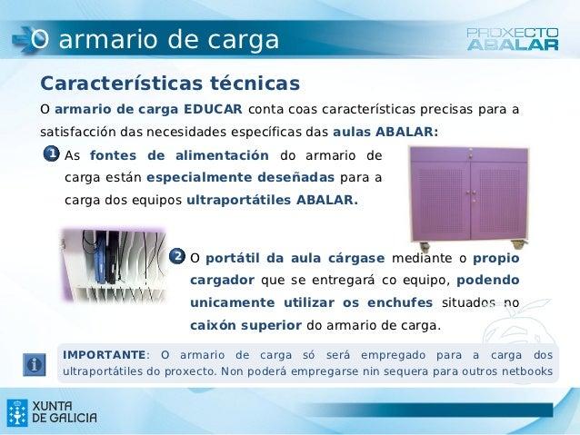 O armario de cargaCaracterísticas técnicasO armario de carga EDUCAR conta coas características precisas para asatisfacción...