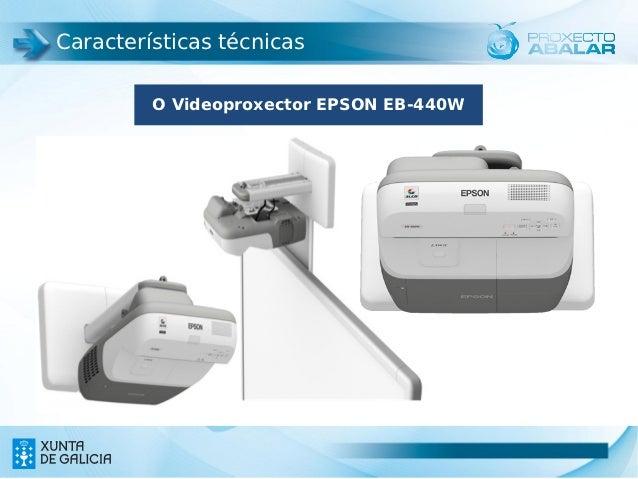 Características técnicas         O Videoproxector EPSON EB-440W                                      4