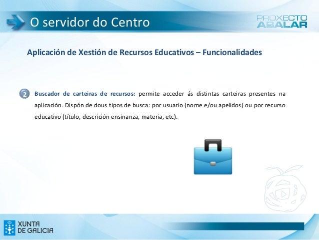 O servidor do Centro    Aplicación de Xestión de Recursos Educativos – Funcionalidades2    Buscador de carteiras de recurs...