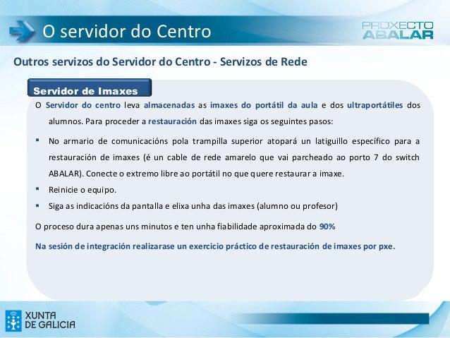 O servidor do CentroOutros servizos do Servidor do Centro - Servizos de Rede   Servidor de Imaxes    O Servidor do centro ...