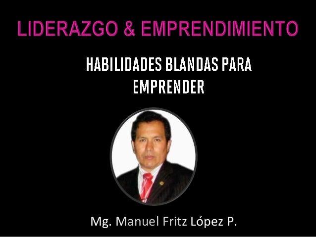 Mg. Manuel Fritz López P.