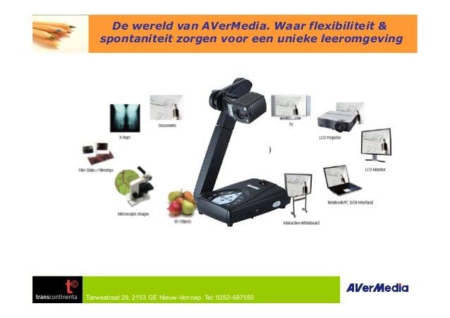 Tarwestraat 29, 2153 GE Nieuw-Vennep. Tel: 0252-687555 De wereld van AVerMedia. Waar flexibiliteit & spontaniteit zorgen v...