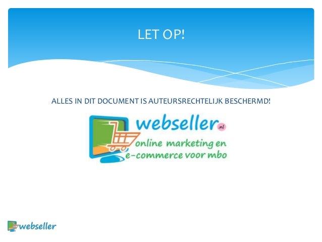 Introductie e commerce - introductie Slide 2