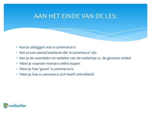 Introductie e commerce - introductie Slide 3