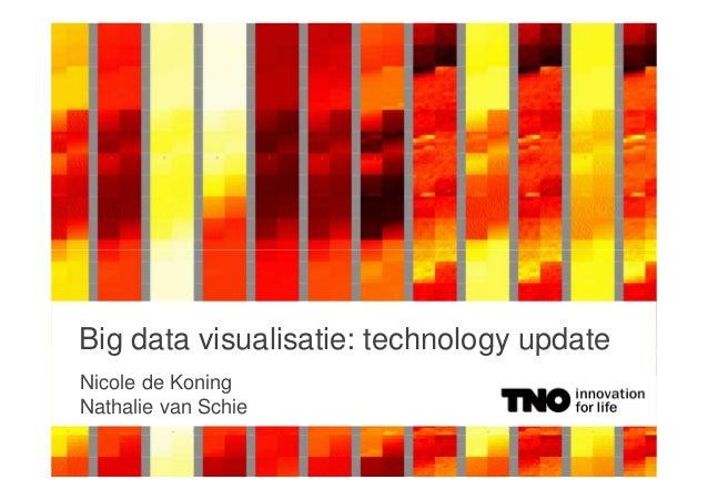 Big data visualisatie: technology update Nicole de Koning Nathalie van Schie