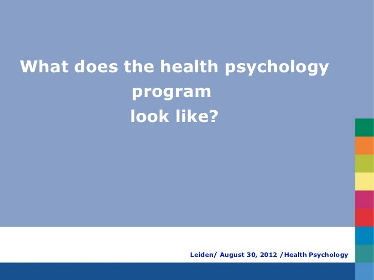 What does the health psychology           program           look like?                 Leiden/ August 30, 2012 /Health Psy...