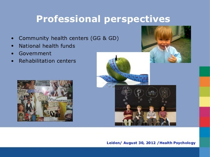 Professional perspectives•   Community health centers (GG & GD)•   National health funds•   Government•   Rehabilitation c...