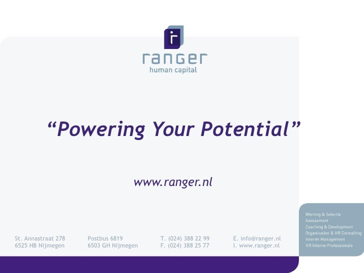 Introductie Ranger Human Capital