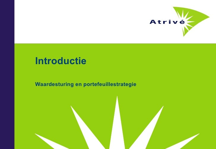 Introductie Waardesturing en portefeuillestrategie