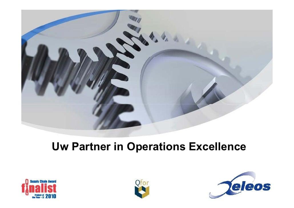 Uw Partner in Operations Excellence