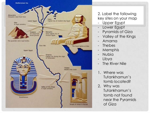 Introducting Tutankhamun - Map of egypt showing valley of the kings