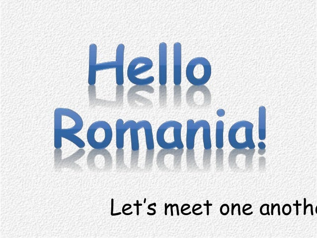 Let's meet one anothe