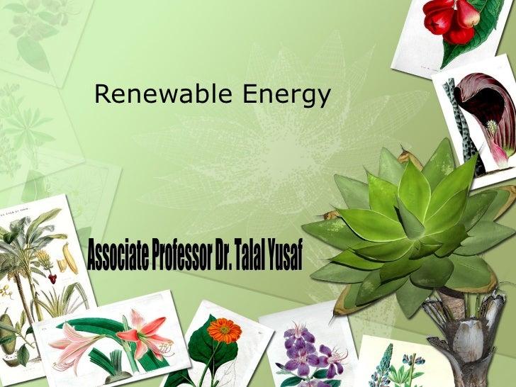 Renewable Energy Associate Professor Dr. Talal Yusaf