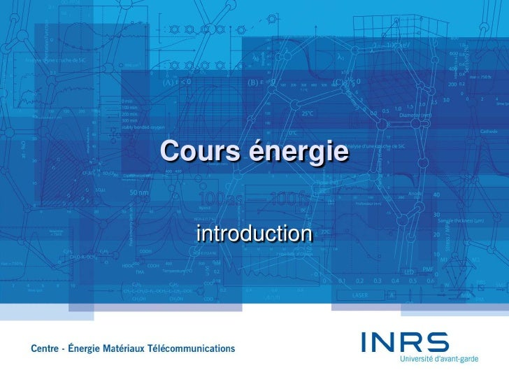 Cours énergie<br />introduction<br />1<br />