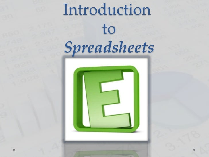 Introduction     toSpreadsheets