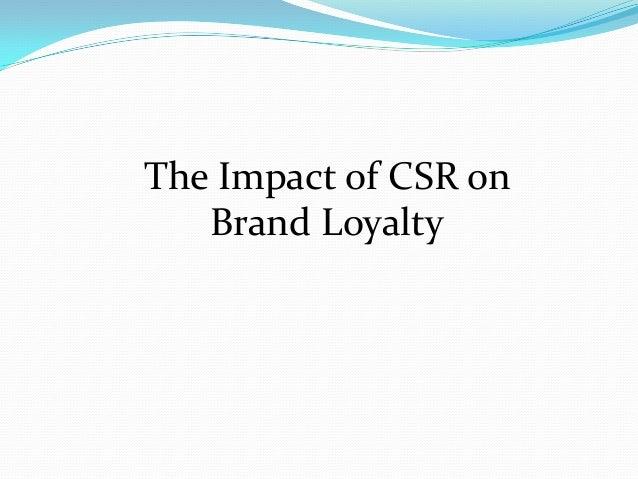 the impact of csr