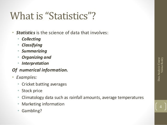 statistical analysis project The lecture slides on statistical analysis also provides examples of how to report results of a correlation or inferential test step 4 - write up your results from all three sets of analyses you applied to your data.