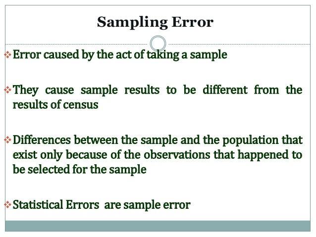 Census Vs Sampling
