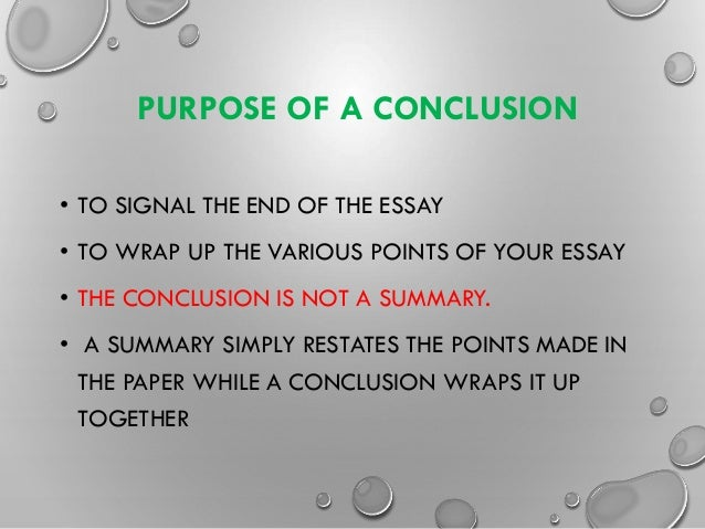 writing introductions and conclusions  some top tipspurpose of a conclusion