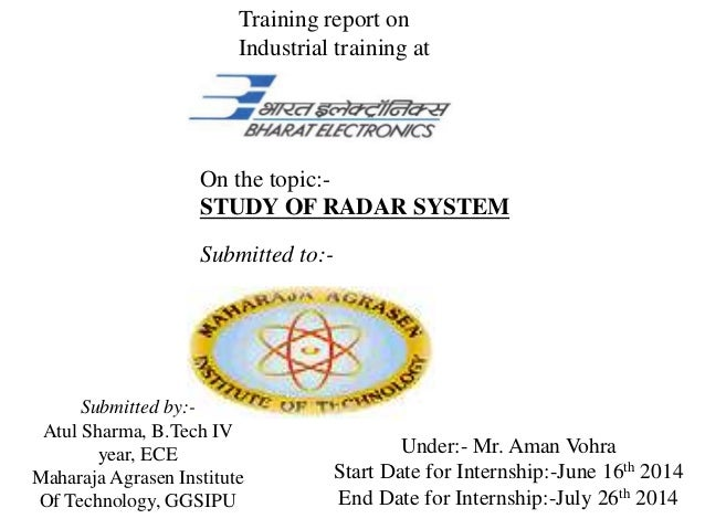Study of Radar System PPT