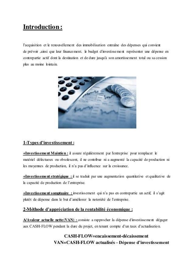 Petite Resume Pour La Gestion Financiere