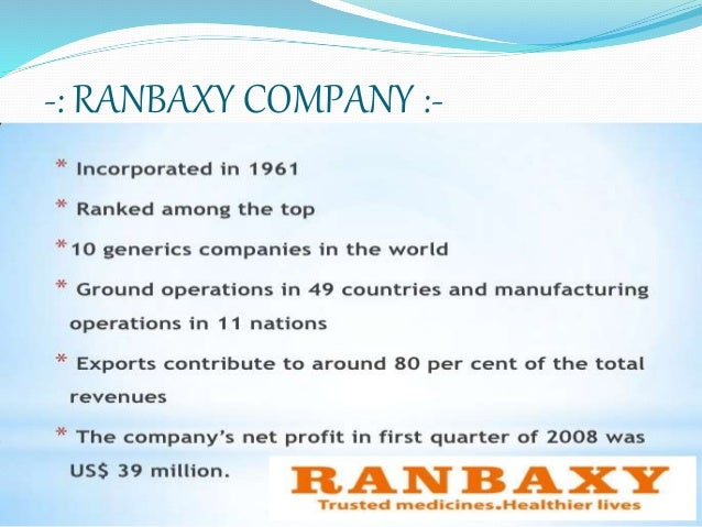Ranbaxy Laboratories Limited: At the Crossroads Case Study Analysis & Solution