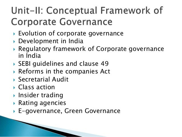 external auditors and their role in the corporate governance framework As with other international codes of corporate governance, the  the governance framework must respect the  the role of internal & external audit.