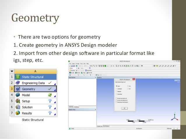Introduction to ANSYS Workbench