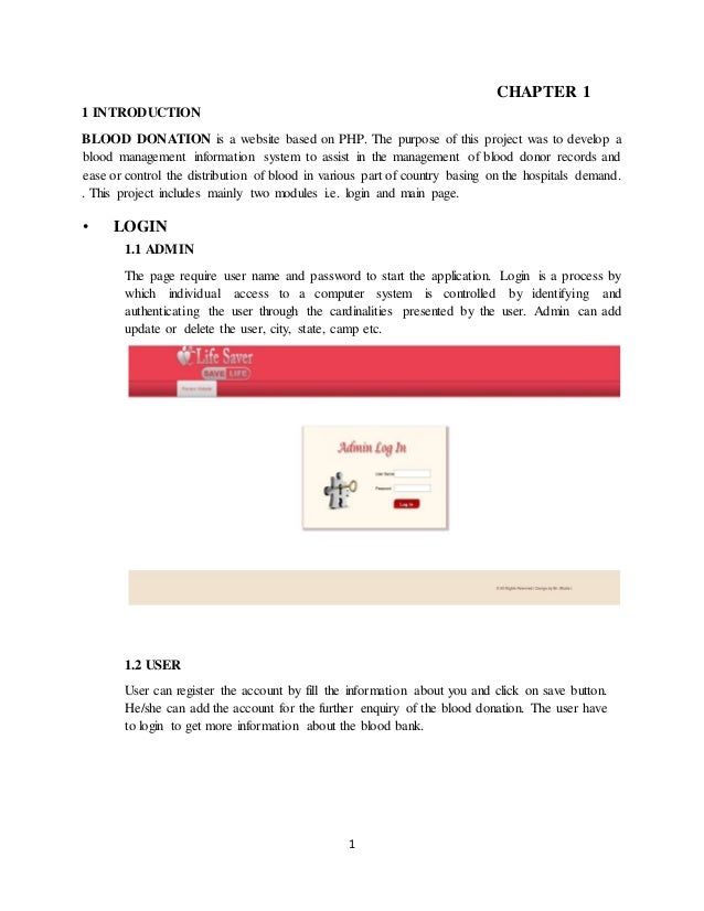 Full Report On Blood Bank Management System