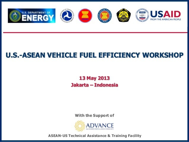 U.S.-ASEAN VEHICLE FUEL EFFICIENCY WORKSHOP13 May 2013Jakarta – IndonesiaWith the Support ofASEAN-US Technical Assistance ...