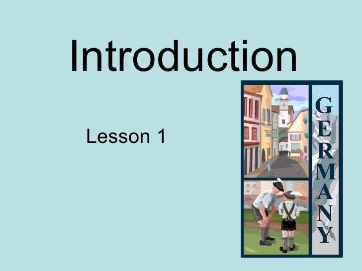 Introduction Lesson 1