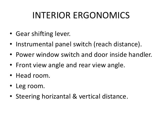 Introduction ergo seating demension - Interior design courses distance learning ...