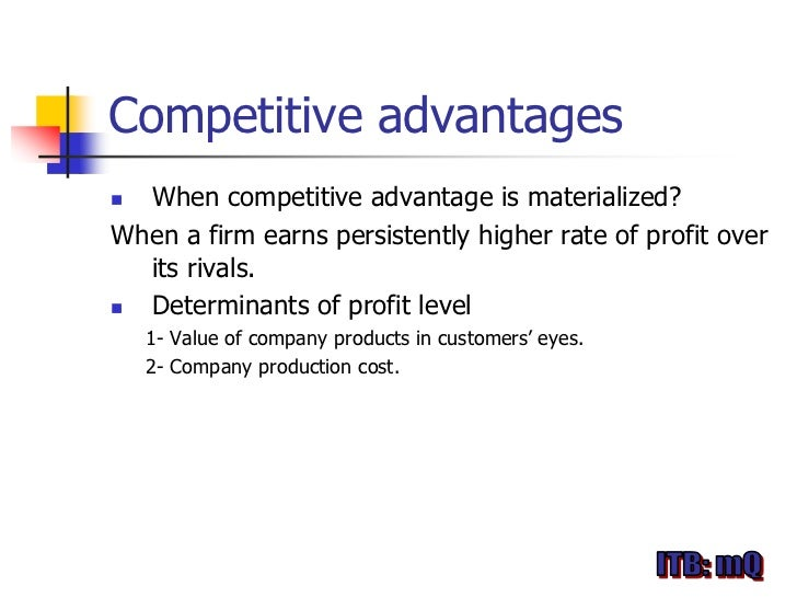 an introduction to the competitive advantage in the international market Competitive advantage introduction the firm is regarded effective at rapidly bringing innovative new products and services to the market have gained a huge.