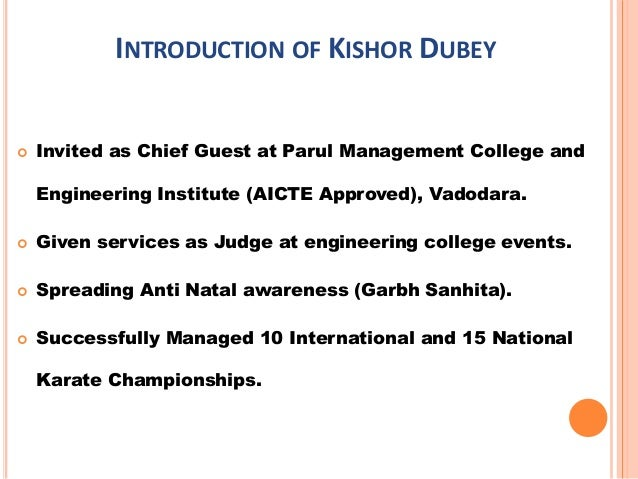 Introduction kishor dubey & training