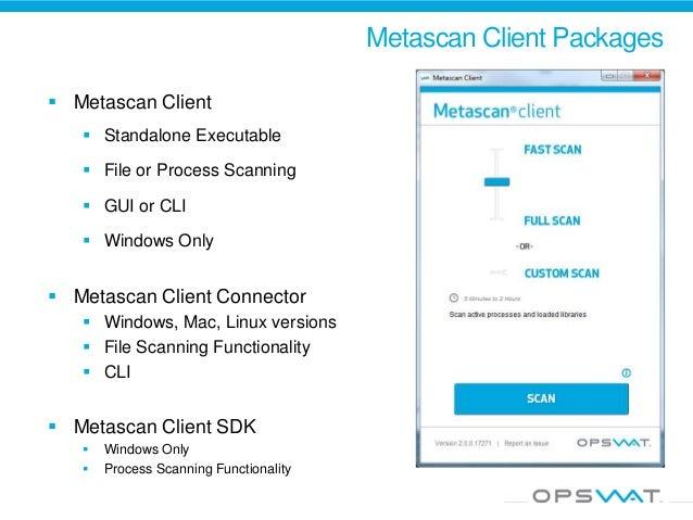 Metascan client download