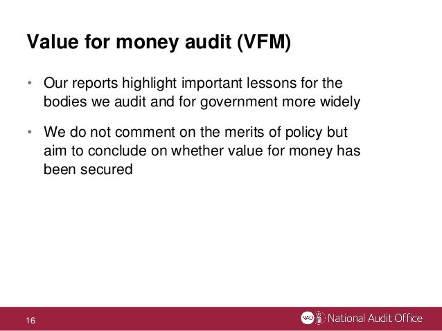 are national audit office value for National audit office criticises universities for mis a new report by the national audit office if students and the taxpayer are to secure value for.
